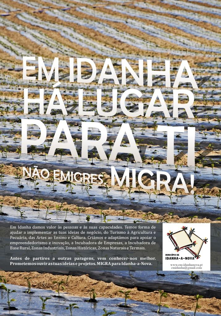 Em Idanha há um lugar para ti: Não emigres, migra!