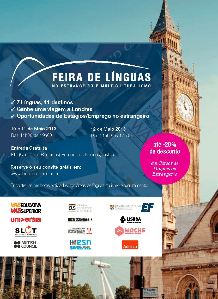 Feira de Línguas na FIL de 10 a 12 de Maio