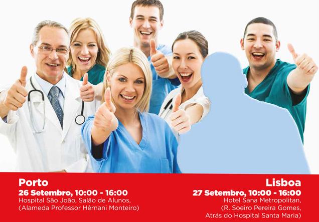 Feira de emprego na área da saúde em Lisboa e no Porto
