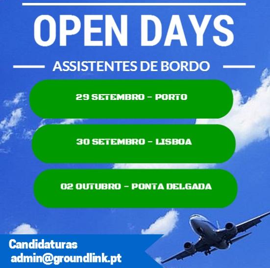 Open Days Ryanair Porto Lisboa Ponta Delgada