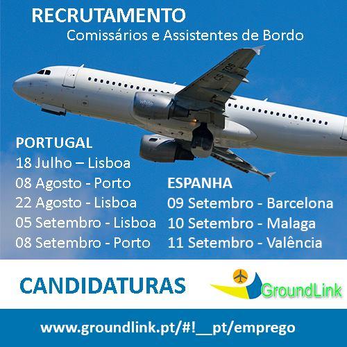 Recrutamento Groundlink Ryanair